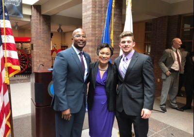 Mayor Toni Harp and Dr. Dakibu Muley Celebrate New Haven's 380th Birthday and Recognize Logan Driscoll