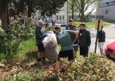 Guilford Baseball Team Landscapes The Garden At the West Haven VA Hospital For Yale Day of Service