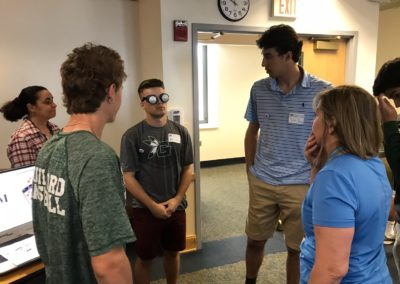 Kevin Cargos and Noah Rubino Learning About Different Types of Blindness (Tunnel Vision) At The Eastern Blind Rehabilitation Services