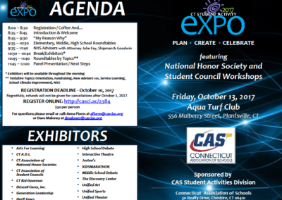 Connecticut Association of Schools Student Activity EXPO