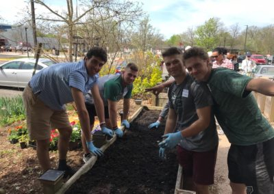 Guilford Baseball Team Plants Garden For Yale Day of Service at the West Haven VA Hospital